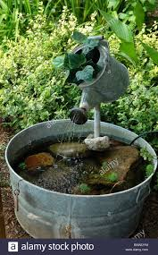 Gazing Ball Fountain Water Fountain I Made From An Old Watering Can And Wash Tub I