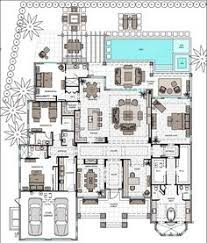 Single Story Open Concept Floor Plans Long Narrow House With Possible Open Floor Plan For The Home