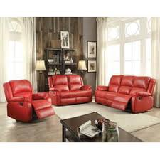 ashley furniture red leather sofa