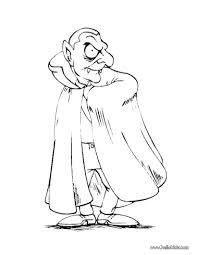 count dracula from transylvania coloring pages hellokids com