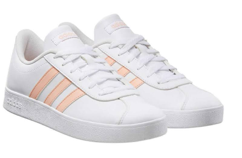 Adidas Kids VL Court 2.0 Sneaker Girls Tennis Shoe (4)