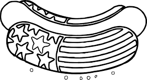 american revolution dog american flag deco coloring page
