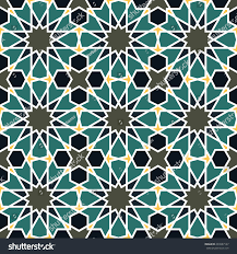 seamless pattern moroccan style mosaic tile stock vector 493987147