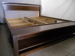 Diy Ikea Bed Black Diy King Bed Frame With Storage Diy King Bed Frame With