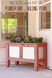 pneumatic addict wood and metal planter box building plans