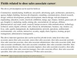 Fields related to shoe sales associate     SlideShare