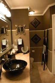 Beige And Black Bathroom Ideas Design Gold Paint Color With White And Seafoam Tile Bathroom