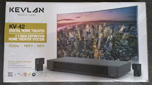 7 1 home theater system kevlan media labs kv 42 7 1 channel high definition home theater