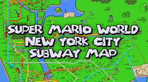 Subway Nyc Map by New York City Subway Map In The Style Of U0027super Mario World U0027