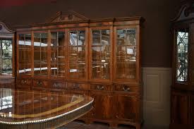 large mahogany china cabinet large breakfront extra large