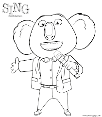 sing 2016 movie coloring coloring pages printable