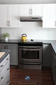 budget friendly kitchen with painted cabinet in benjamin moore