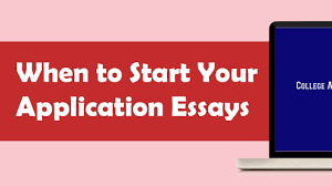 When to Start Writing Your College Application Essays   YouTube