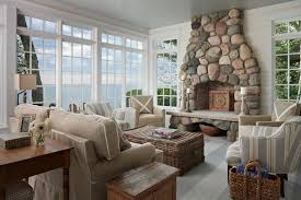 simple beach theme living room decoration in home interior design