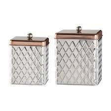 rustic kitchen canister set detrit us global amici square diamond 2 piece kitchen canister set reviews