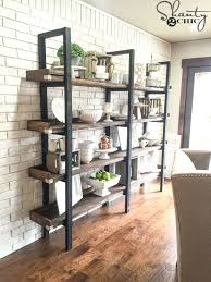 Simple Free Standing Shelf Plans by 25 Best Dining Room Shelves Ideas On Pinterest Dining Room