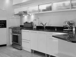 White Kitchen Cabinets With Black Granite Countertops by Simple Kitchen Cabinets Design Images Attractive Ash Wood And