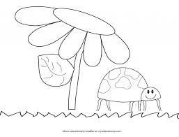 kid color pages ladybug