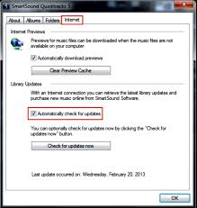 how to manually stop the smartsound quicktracks 5 update library