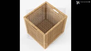 Ikea Wicker Baskets by Rattan Basket Ikea Branas Natural Color 3d Model From