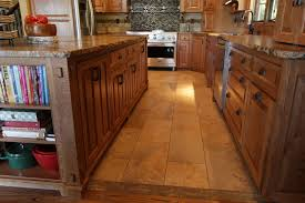 travertine countertops quarter sawn oak kitchen cabinets lighting