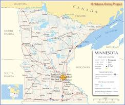 United States Map Major Cities by Reference Map Of Minnesota Road Maps Of The United States
