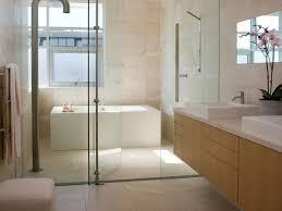 interior cozy small bathroom with wall mounted corner soaking
