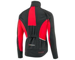 red cycling jacket louis garneau spire convertible bike jacket black red