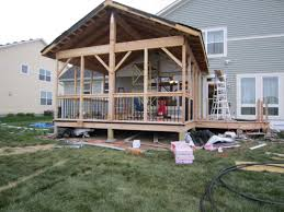 Screen Porch Roof by Building A Screen Porch Chuck Hays