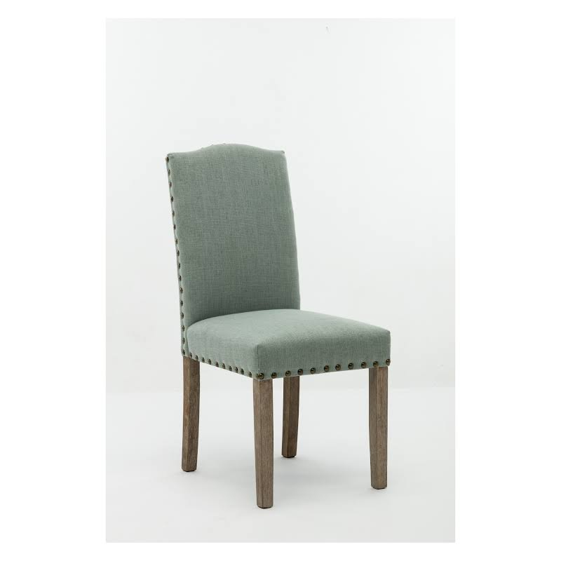 Boraam Shawna Upholstered Dining Side Chair In Green (set Of 2)
