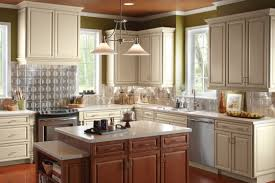 furniture pretty wooden kitchen armstrong cabinets in brown with