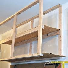 Build Wooden Shelf Unit by Diy Garage Storage Ceiling Mounted Shelves Giveawaybuild Your Own