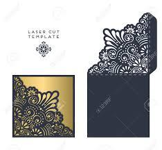 Card Invitation Laser Cut Template Envelope Wedding Card Invitation Royalty Free