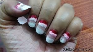 zig zac mania santa christmas inspired nail art step by step