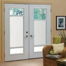 exterior door with blinds between glass blinds for french doors in kitchen window coverings for french