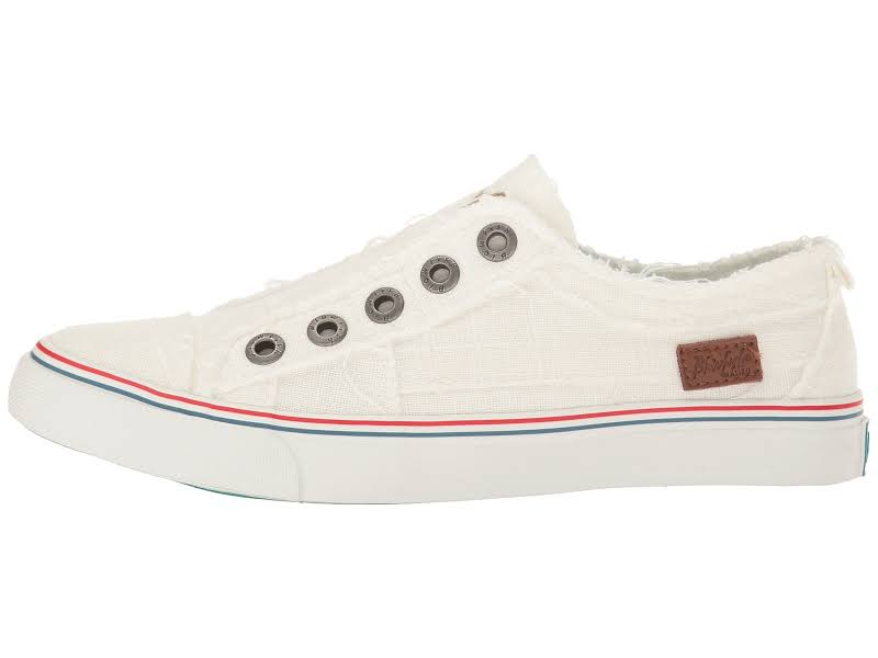 Blowfish Play Linen White Ankle-High Sneaker 7.5M