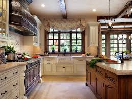 French Country Kitchen Cabinets Photos French Country Kitchen Beautiful Tile Backsplash Large Window In