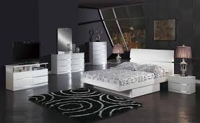 Bedroom Furniture New York by Volare King Size Modern Black Bedroom Set 5pc Made In Italy Ebay