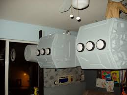 Star Wars Kids Rooms by Millenium Falcon Loft Bed With Control Panel And Desk Under Star