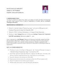 Mba Resume Samples India  resume samples for freshers civil     Sample Customer Service Resume