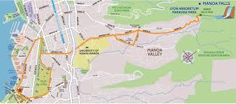 Map Of Waikiki Manoa Falls 4 Hour Bike U0026 Hike