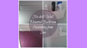 no drill wall mounted ikea bathroom accessories youtube