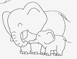 baby elephant template baby elephant coloring pictures cute