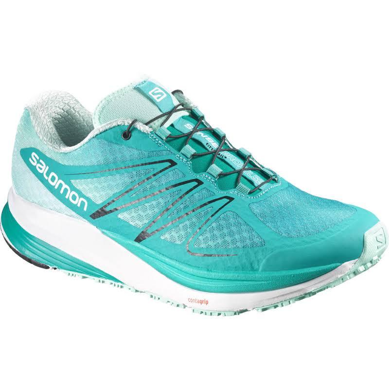 Salomon Sense Pro Pulse Trail Running Shoe Teal Blue/Igloo Blue/ Black 9.5 887850708320