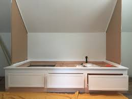 remodelaholic beautiful built in bed nook with storage drawers beautiful built in bed nook with storage drawers