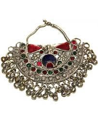 Venta on line de joyer  a  colgantes  cuentas  monedas  anillos     Antiguo colgante  pendiente Nautch tribal con Gungroo