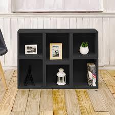 Sauder Black Bookcase sauder edge water estate black storage open bookcase 409046 the