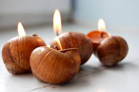 scented candles snails shell candles hygge home decor