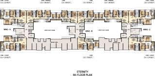 East Wing Floor Plan by Raheja Reflections Eternity By Raheja Universal In Kandivali East