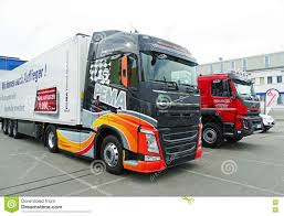 volvo freight trucks modern volvo trucks editorial photo image 76357166